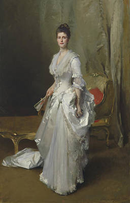 Margaret Stuyvesant Rutherfurd White Poster by John Singer Sargent