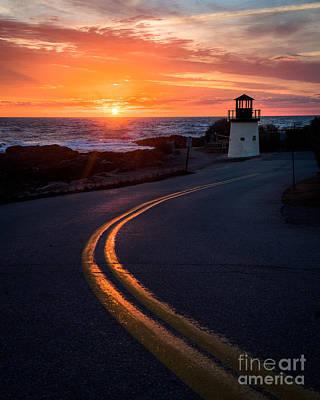 Marginal Way Ogunquit Sunrise Poster by Benjamin Williamson