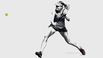 Maria Sharapova 3y Poster by Brian Reaves