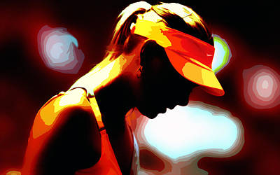 Maria Sharapova 5b Poster by Brian Reaves