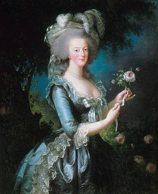 Marie-antoinette With The Rose Poster by Louise Elisabeth Vigee Le Brun