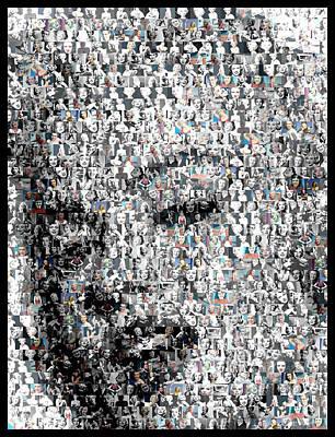 Marilyn Monroe Mosaic Poster by Paul Van Scott