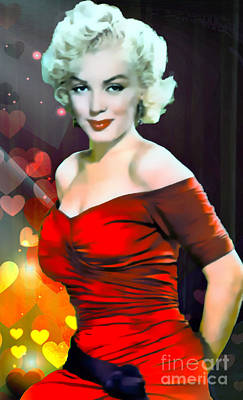 Marilyn Monroe Movie Icon Poster by Ian Gledhill