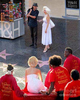 Marilyn Monroe On Hollywood Boulevard Poster by Jennie Breeze