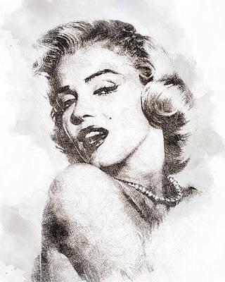 Marilyn Monroe Portrait 01 Poster by Pablo Romero