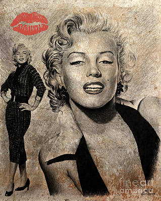 Marilyn Monroe Red Lips Edition Poster by Andrew Read
