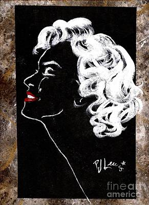 Marilyn's Spotlight Poster by P J Lewis