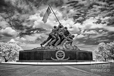 Marine Corps War Memorial Poster by Anthony Sacco