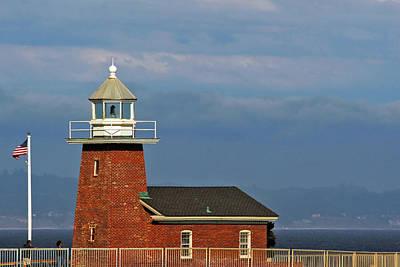 Mark Abbott Memorial Lighthouse California - The World's Oldest Surfing Museum Poster by Christine Till