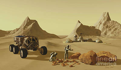 Mars Planet Explorers Poster by Corey Ford