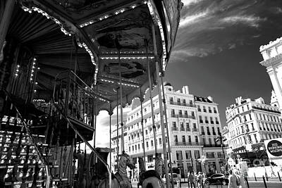 Marseille Carousel View Poster by John Rizzuto