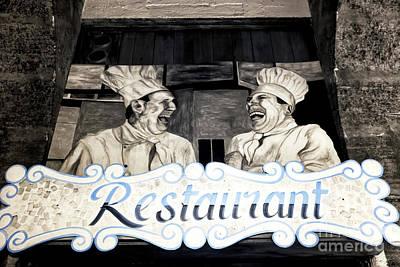 Marseille Restaurant Poster by John Rizzuto