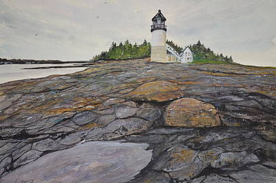 Marshal Point Lighthouse Poster by Kellie Chasse