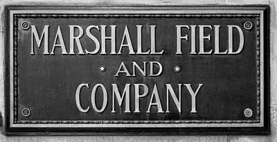 Marshall Field Plaque Poster by Steve Gadomski