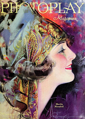 Martha Mansfield, Photoplay July 1920 Poster by Sarah Vernon