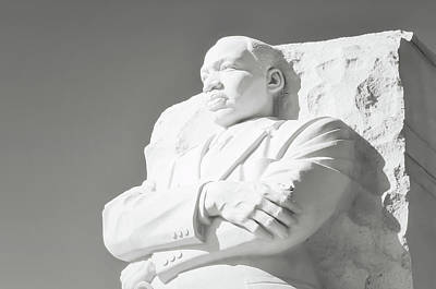 Martin Luther King Statue In Washington Dc Poster by Brandon Bourdages