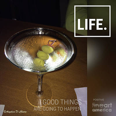 Martini - Quote Poster by Italian Art