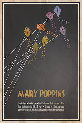 Mary Poppins Poster by Megan Romo