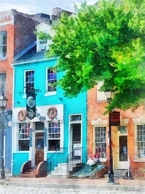 Maryland - Neighborhood Pub Fells Point Md Poster by Susan Savad