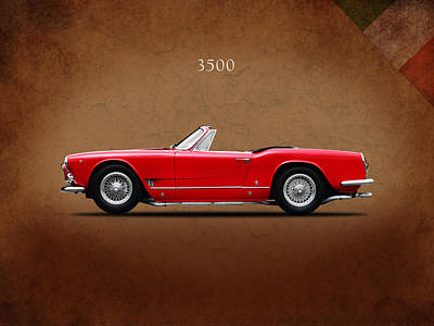 Maserati 3500 Spyder 1959 Poster by Mark Rogan