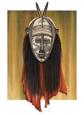 Mask I Untitled Poster by Anthony Burks Sr