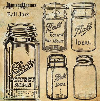 Mason Jars Poster by Anthony Djordjevic