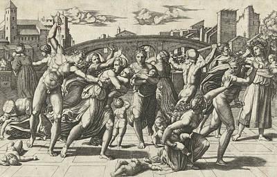 Massacre Of The Innocents Poster by Marcantonio Raimondi