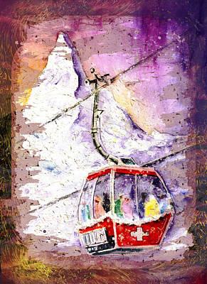 Matterhorn Authentic Madness Poster by Miki De Goodaboom