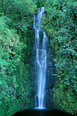 Maui Waterfall Poster by Bill Brennan - Printscapes
