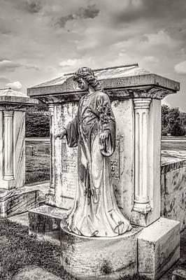 Mausoleum Angel Bw Poster by Melissa Bittinger