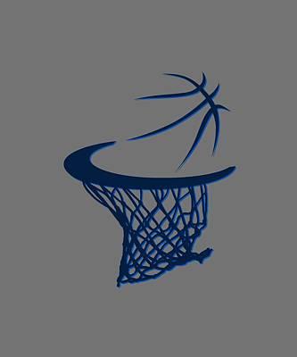 Mavericks Basketball Hoops Poster by Joe Hamilton
