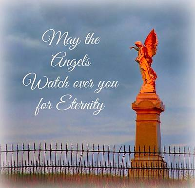 May The Angels Watch Over You Poster by Julie Dant