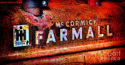 Mccormick Farmall Grunge Poster by Olivier Le Queinec