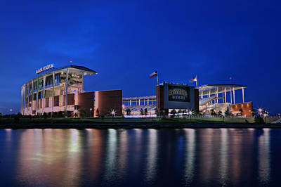 Mclane Stadium Evening Poster by Stephen Stookey