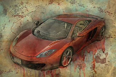 Mclaren Graffiti Poster by Joel Witmeyer