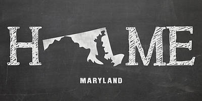 Md Home Poster by Nancy Ingersoll