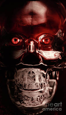 Mech War Machine. Crystalised Robot Skull Poster by Jorgo Photography - Wall Art Gallery