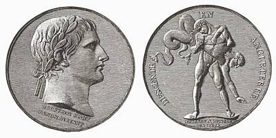 Medal Struck By Napoleon In Poster by Vintage Design Pics