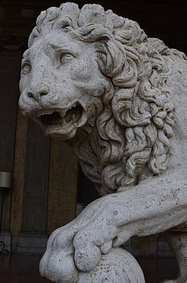 Medici Lion With Sphere Poster by Tammy Mutka