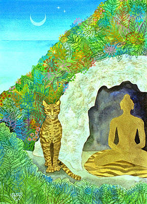 Spirtual Poster featuring the painting Meditation At Dawn by Jennifer Baird