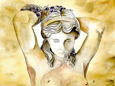 Meditrina Goddess Of Wine Poster by Brenda Owen