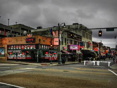 Memphis - Beale Street 002 Poster by Lance Vaughn