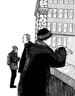 Men At Berlin Bridge Poster by Karl Addison