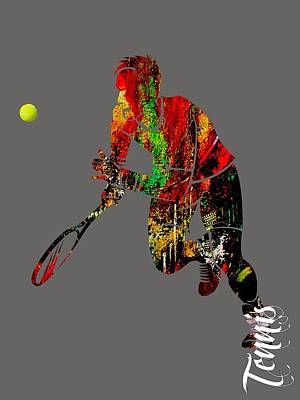 Mens Tennis Collection Poster by Marvin Blaine