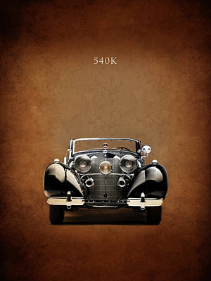 Mercedes Benz 540k Poster by Mark Rogan
