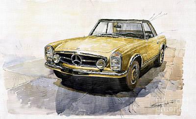 Mercedes Benz W113 Pagoda Poster by Yuriy  Shevchuk