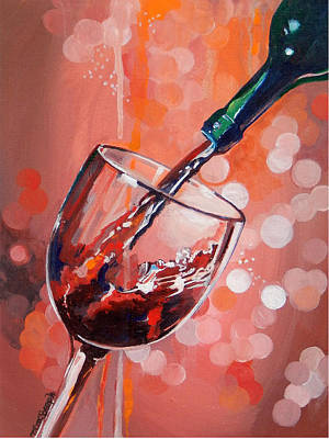 Merlot Madness Poster by Terry Cox Joseph