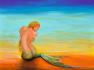 Mermaid Poster by Gina De Gorna