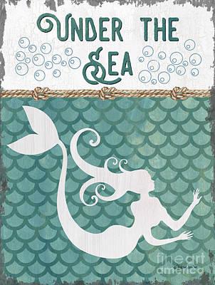 Mermaid Waves 2 Poster by Debbie DeWitt