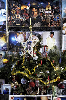 Merry Christmas Michael Jackson Poster by John Rizzuto